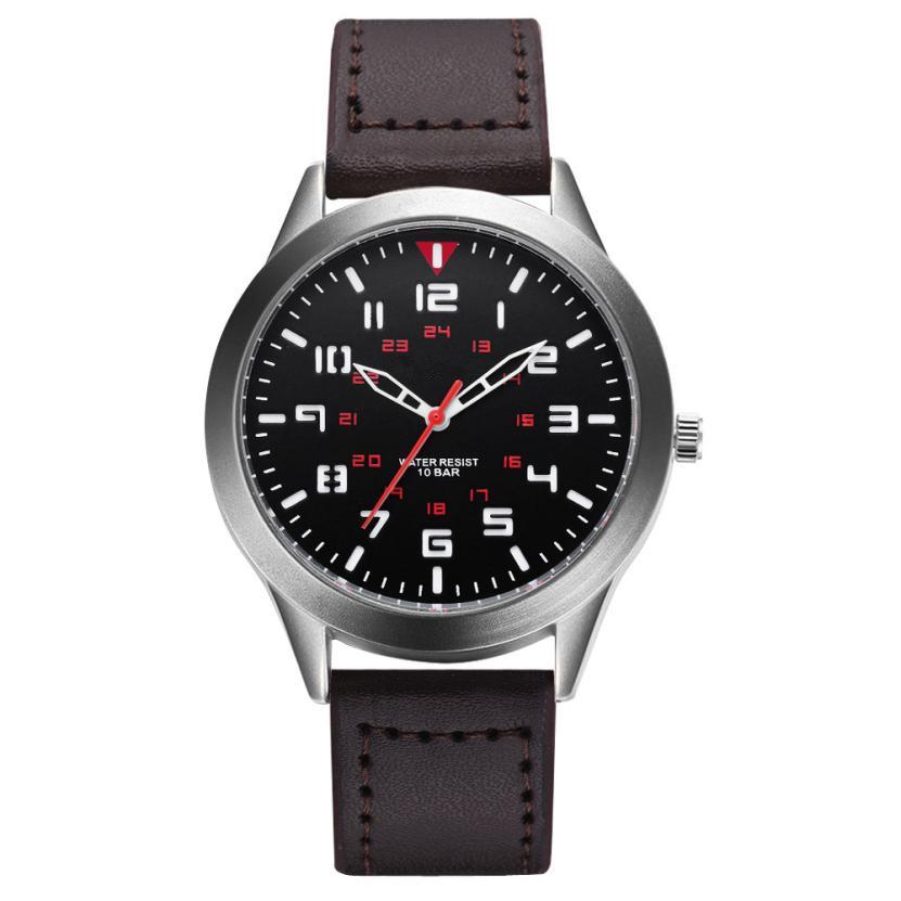 Армейские часы «Gaiety» с матовым серебристым корпусом и коричневым ремешком купить. Цена 275 грн