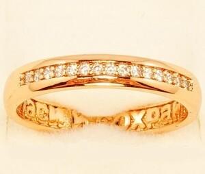 Лаконичное кольцо «Вознесение» с дорожкой из камней и качественной позолотой фото. Купить