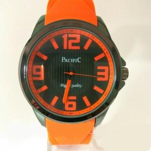 Яркие мужские часы «Pacific» с оранжевым силиконовым ремешком купить. Цена 499 грн