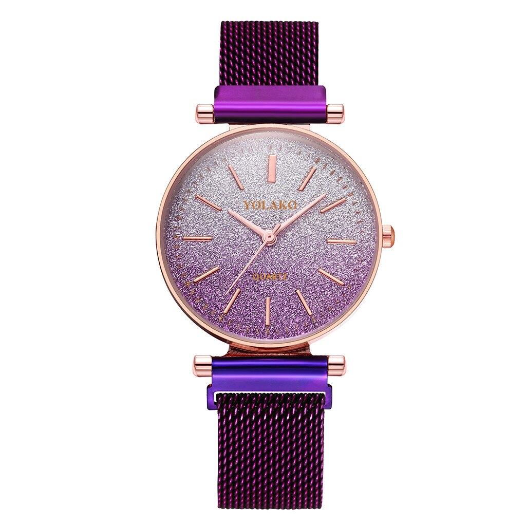 Гламурные женские часы «Yolako» обворожительного цвета с магнитным ремешком купить. Цена 375 грн
