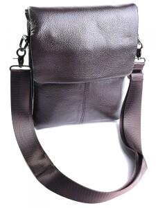 Повседневная мужская сумка «Laras» из плотной натуральной кожи коричневого цвета купить. Цена 1390 грн