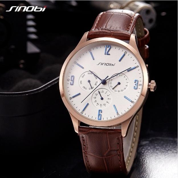 Строгие мужские часы «Sinobi» в классическом стиле с полным календарём купить. Цена 1099 грн