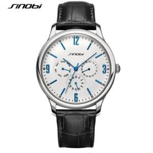 Элегантные часы «Sinobi» с белым циферблатом и синими цифрами купить. Цена 1099 грн