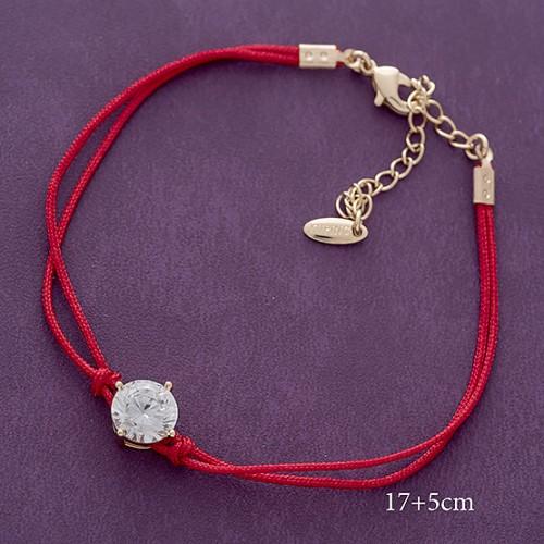 Популярный браслет «Брюлик» с небольшим камнем в позолоченной оправе купить. Цена 175 грн