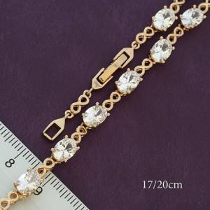 Классический браслет «Лиссабон» с овальными камнями в позолоченной оправе купить. Цена 350 грн