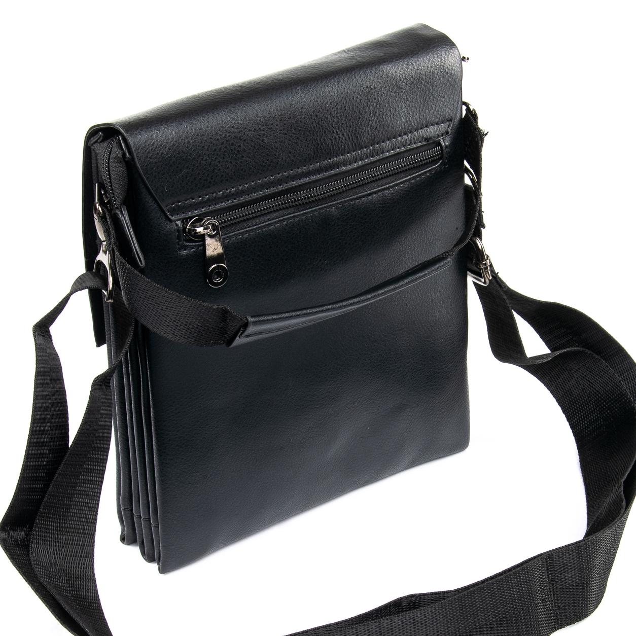 Гладкая мужская сумка «Dr.Bond» из искусственной кожи с клапаном на магнитах фото 1