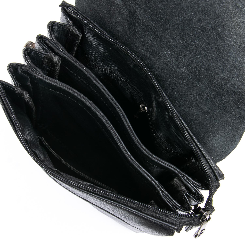 Гладкая мужская сумка «Dr.Bond» из искусственной кожи с клапаном на магнитах фото 2