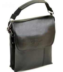 Небольшая мужская сумка «Dr.Bond» чёрного цвета с красивым кожаным клапаном купить. Цена 535 грн