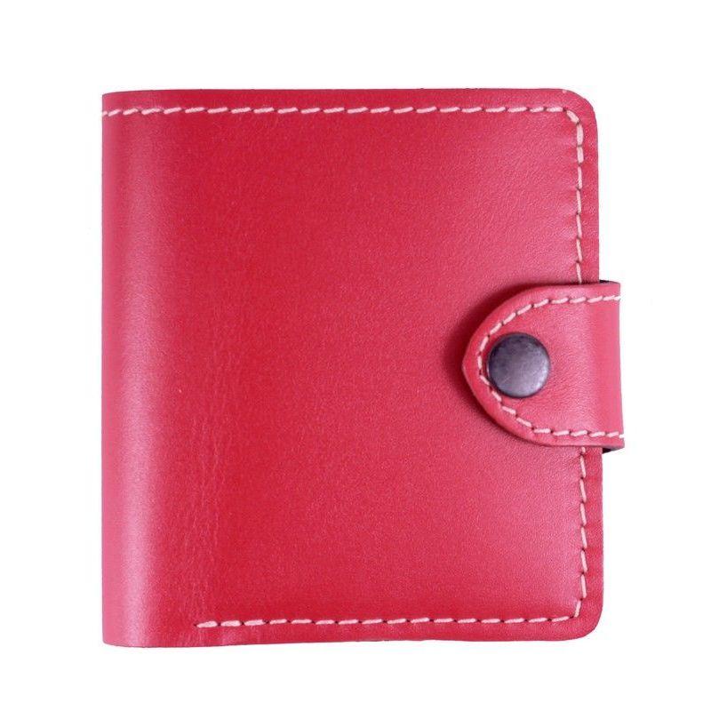 Простой кошелёк «Turtle» ручной работы из ярко-красной натуральной кожи купить. Цена 675 грн