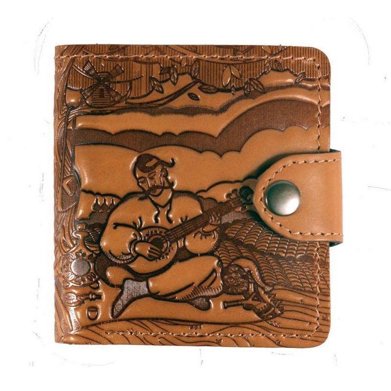 Эксклюзивный бумажник «Turtle» из натуральной кожи в национальном стиле купить. Цена 895 грн