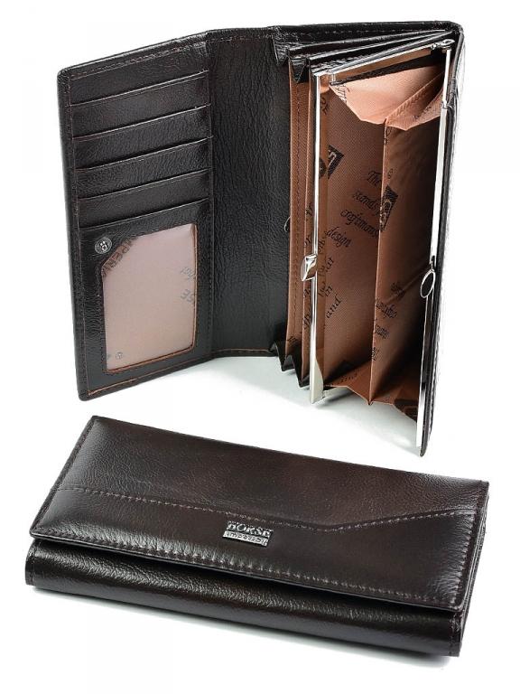 Простой женский кошелёк «Imperial Horse» классического стиля из натуральной кожи купить. Цена 499 грн