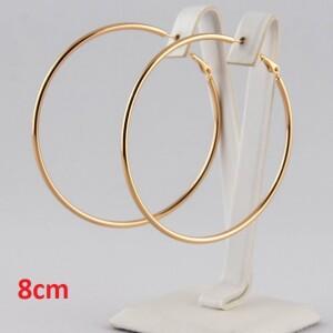 Позолоченные серьги «Кольца гладкие» большого размера от Xuping купить. Цена 240 грн