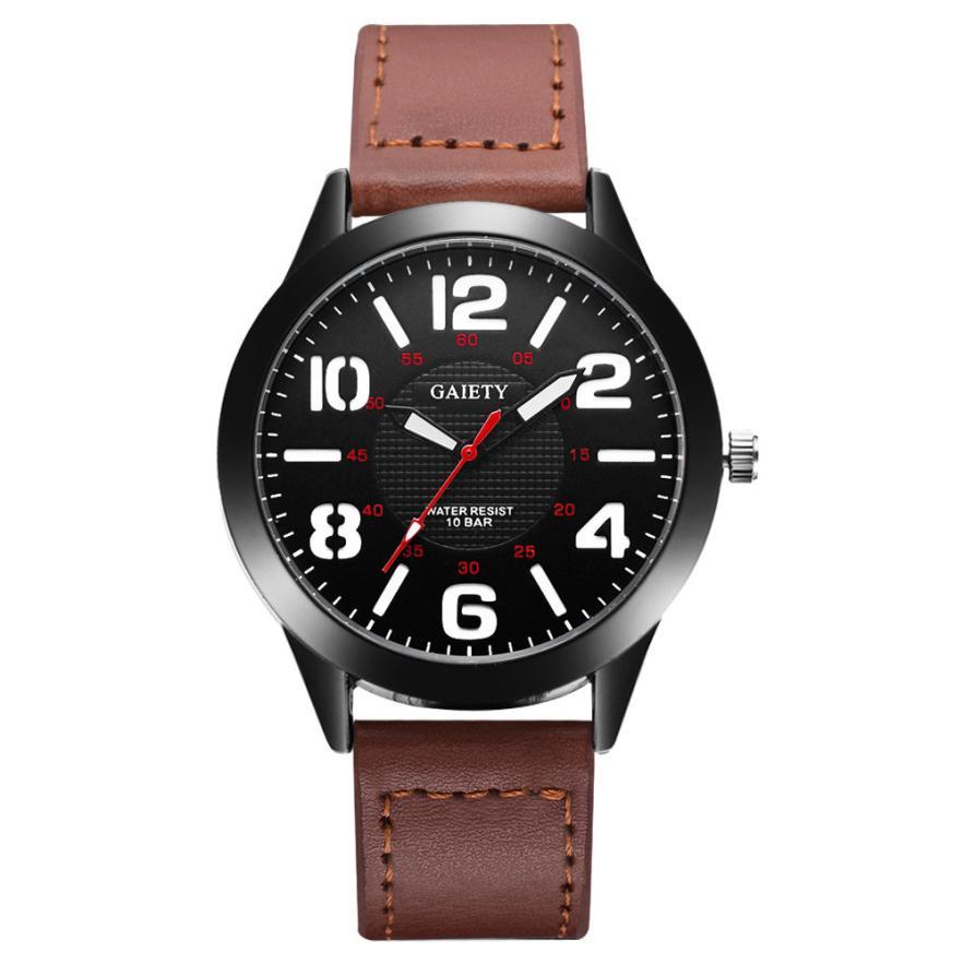 Отличные мужские часы «Gaiety» с крупными цифрами белого цвета купить. Цена 265 грн