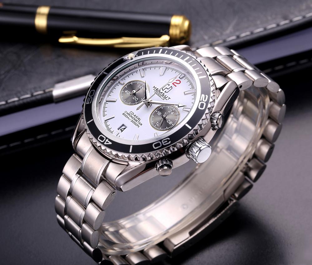 Функциональные часы «Hemsut» с качественным браслетом из нержавеющей стали купить. Цена 1180 грн