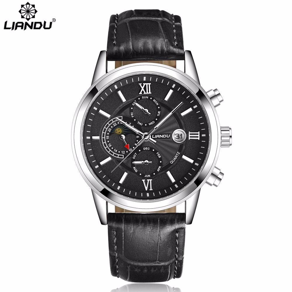 Классические мужские часы «Liandu» с японским кварцевым механизмом купить. Цена 1370 грн