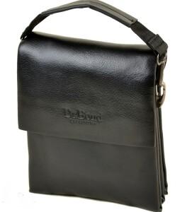 Строгая мужская сумка «Dr.Bond» небольшого размера из чёрной экокожи купить. Цена 535 грн