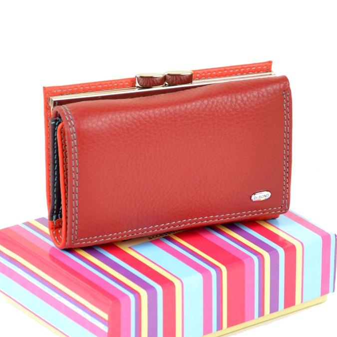 Яркий кожаный кошелёк «Dr.Bond» небольшого размера с монетницей сзади купить. Цена 699 грн