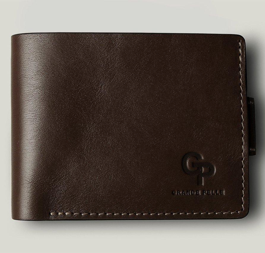 Роскошный бумажник «Grande Pelle» из глянцевой итальянской кожи купить. Цена 989 грн