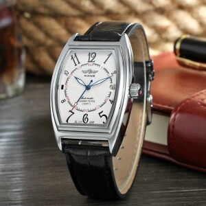 Строгие мужские механические часы «Winner» в форме бочки с арабскими цифрами купить. Цена 1490 грн