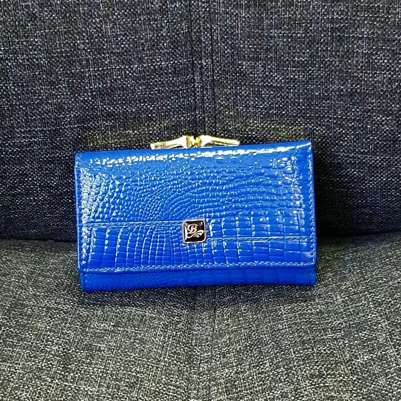 Короткий кошелёк «Balisa» ярко-синего цвета из лаковой кожи купить. Цена 585 грн