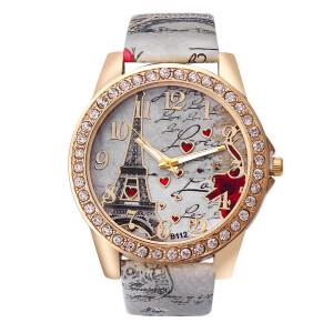 Романтичные часы «Geneva» с Эйфелевой башней на циферблате купить. Цена 225 грн