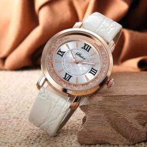 Небольшие женские часы «Geneva» с сыпучими кристаллами вокруг циферблата купить. Цена 245 грн