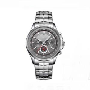 Отличные мужские часы «LIGE» в деловом стиле с красивым металлическим браслетом фото. Купить