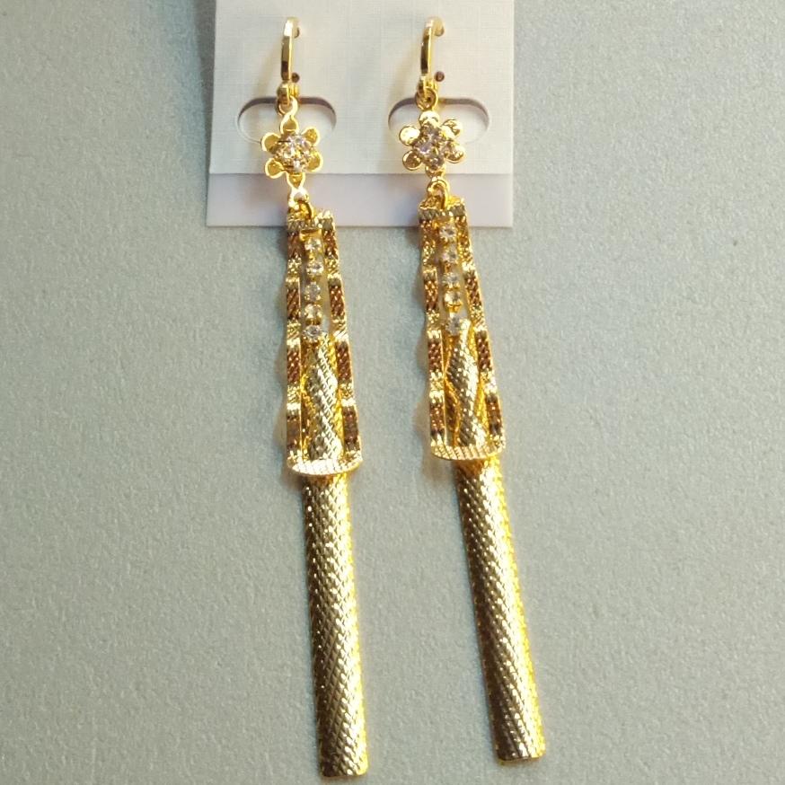 Волнистые серьги «Хамураппи» c французским замком и настоящей позолотой купить. Цена 210 грн