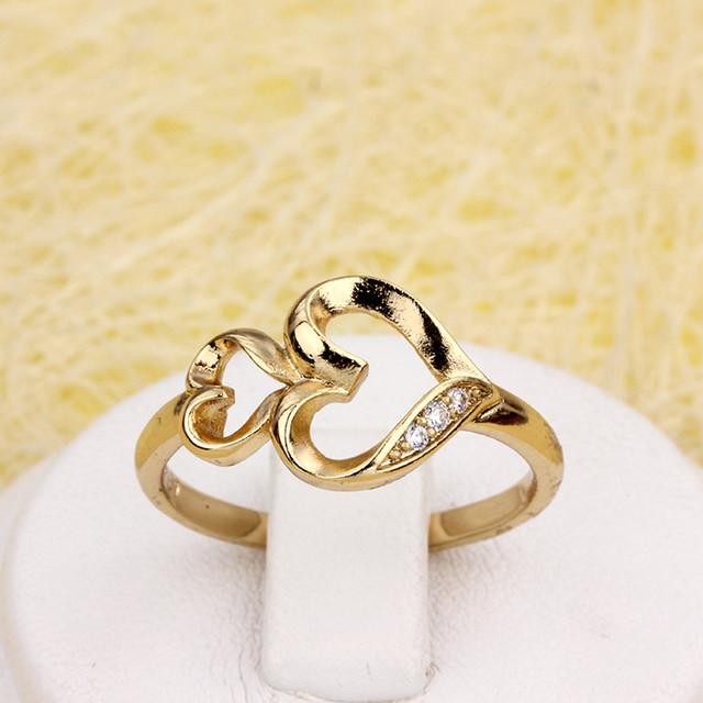 Милое кольцо «Амур» с двумя позолоченными сердечками купить. Цена 165 грн