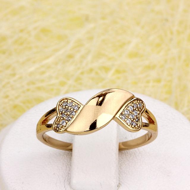 Романтичное кольцо «Пуэрто-Рико» с качественной позолотой от Xuping купить. Цена 175 грн