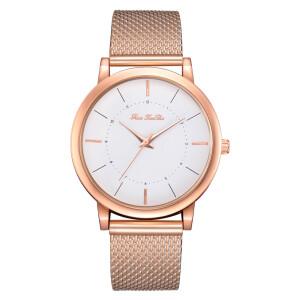 Простые женские часы «FanFeeDa» золотого цвета с полимерным ремешком купить. Цена 235 грн