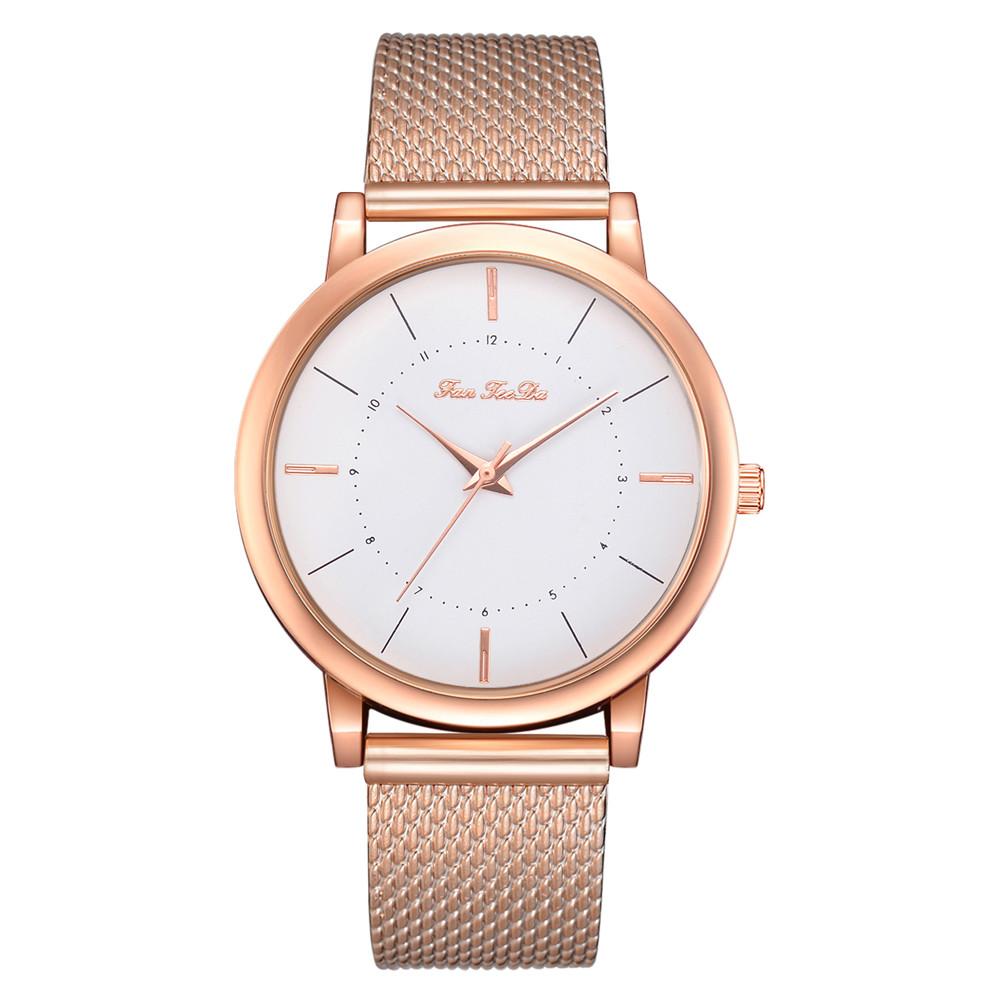 Простые женские часы «FanFeeDa» золотого цвета с полимерным ремешком купить. Цена 265 грн