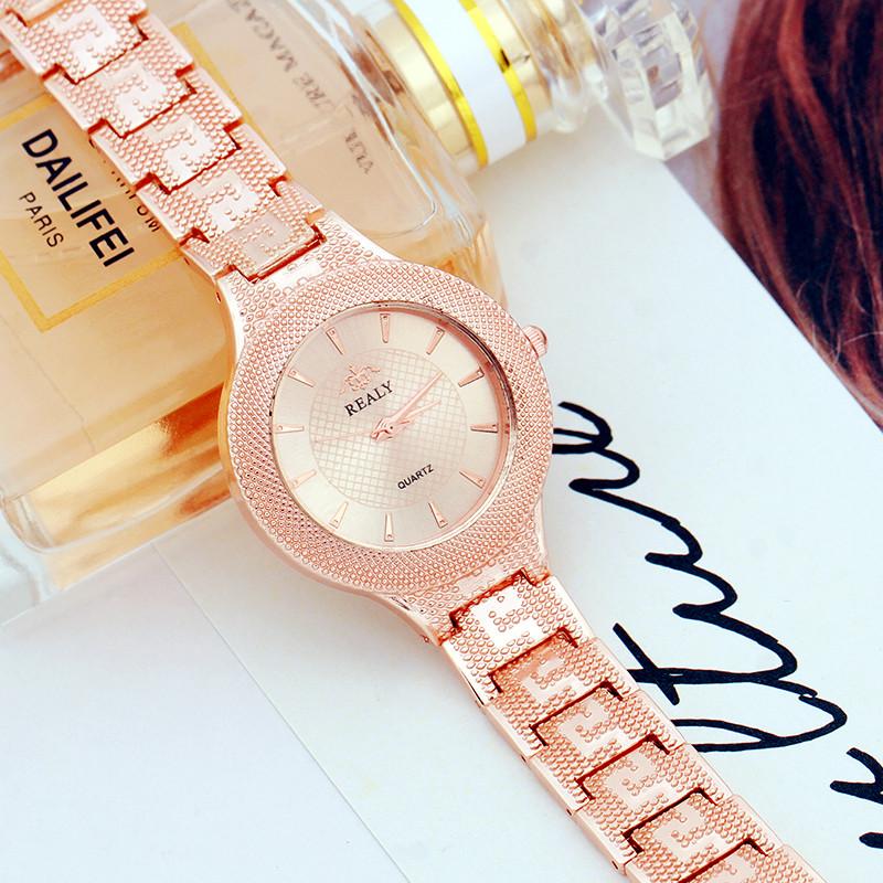 Элегантные наручные часы «Realy» медного цвета с красивым браслетом купить. Цена 399 грн
