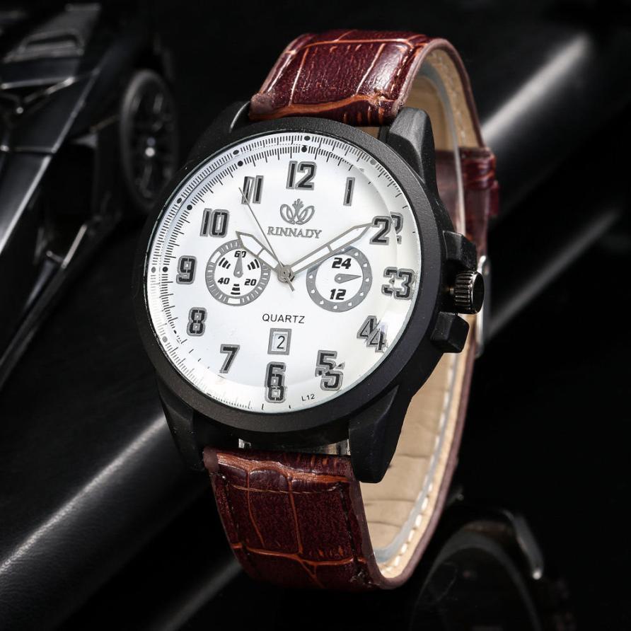 Недорогие часы «Rinnady» с чёрным корпусом и функцией отображения даты купить. Цена 290 грн