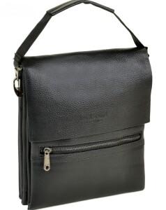 Прямоугольная мужская сумка «Dr.Bond» из фактурной искусственной кожи чёрного цвета купить. Цена 599 грн
