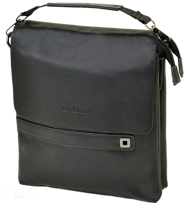 Красивая мужская сумка «Dr.Bond» крупного размера из чёрной зернистой экокожи купить. Цена 699 грн