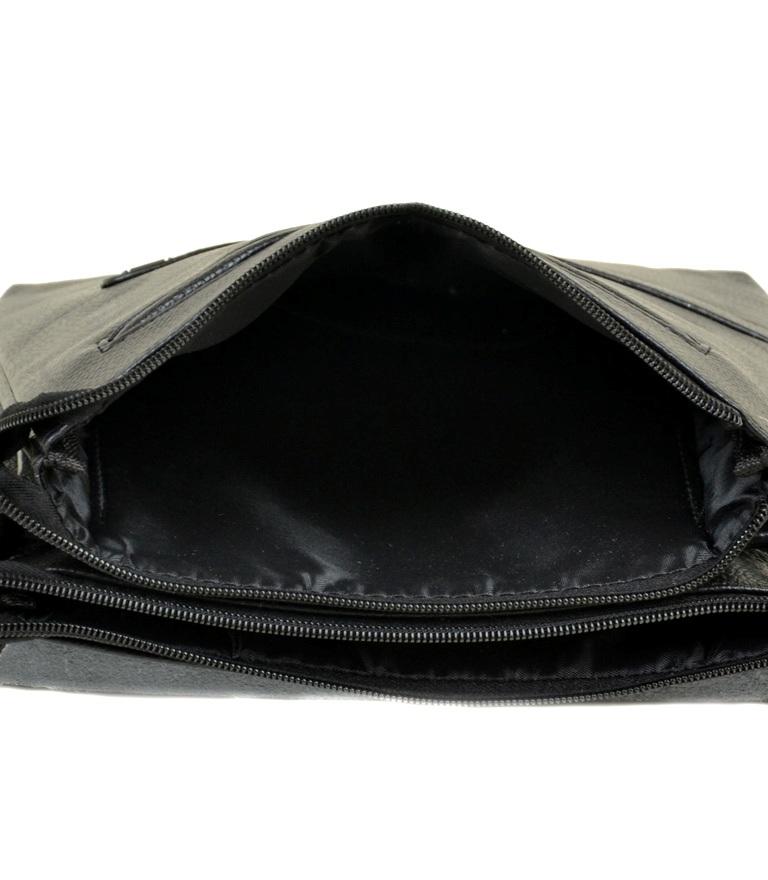 Красивая мужская сумка «Dr.Bond» крупного размера из чёрной зернистой экокожи фото 2