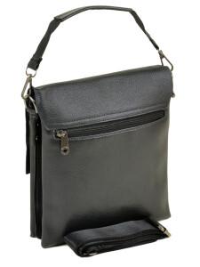 Небольшая мужская сумка «Dr.Bond» из зернистой экокожи с кожаным клапаном фото 1