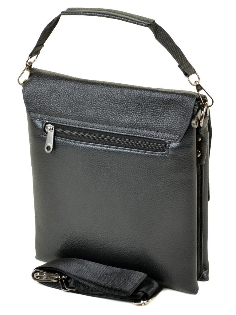 Крупная мужская сумка «Dr.Bond» из искусственной кожи с кожаным клапаном фото 1