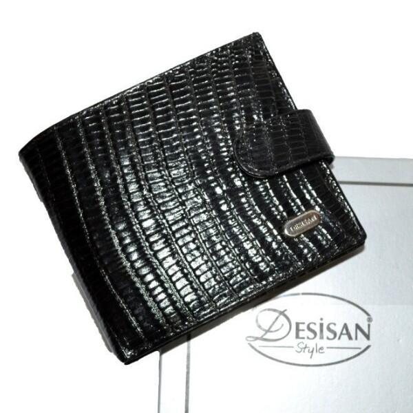 Лаковый бумажник «Desisan» из натуральной кожи с текстурой под рептилию купить. Цена 997 грн