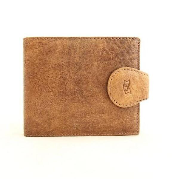 Неповторимый бумажник «Lison Kaoberg» из фактурной кожи песочного цвета купить. Цена 885 грн