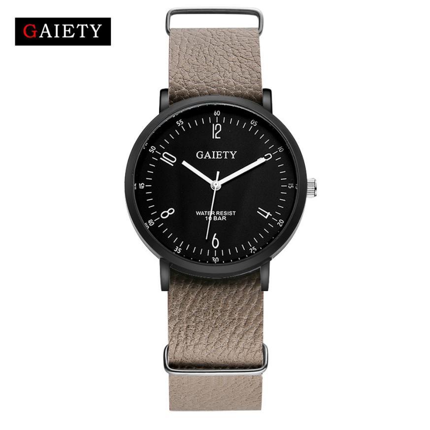 Удобные мужские часы «Gaiety» с кожаным ремешком НАТО купить. Цена 265 грн