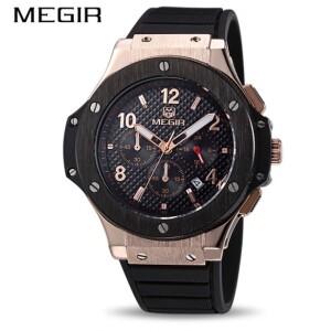 Популярные мужские часы «Megir» с крупным корпусом и силиконовым ремешком купить. Цена 1790 грн