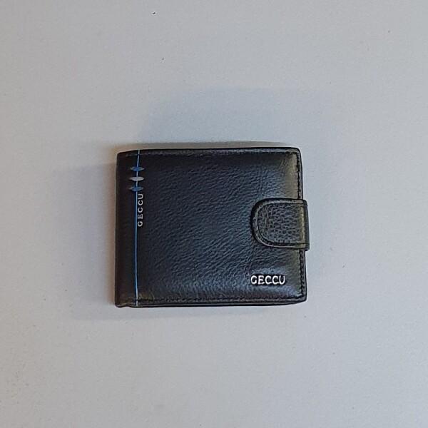 Классический бумажник «Geccu» чёрного цвета из натуральной кожи купить. Цена 575 грн