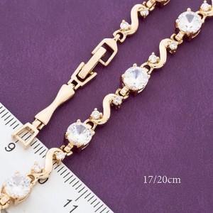 Очаровательный браслет «Мелинда» с позолоченными звеньями и фианитами купить. Цена 310 грн