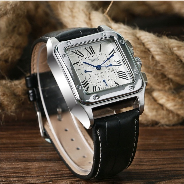 Механические часы «Jaragar» квадратной формы с римскими цифрами купить. Цена 1690 грн