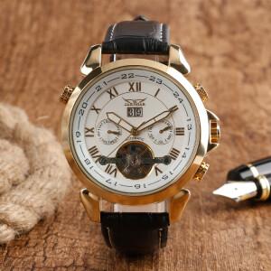 Механические мужские часы «Jaragar» классического дизайна с римскими цифрами купить. Цена 2099 грн