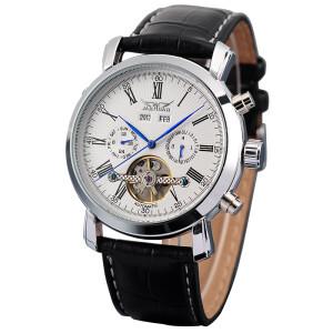 Классические механические часы «Jaragar» с полным календарём и чёрным ремешком купить. Цена 2099 грн
