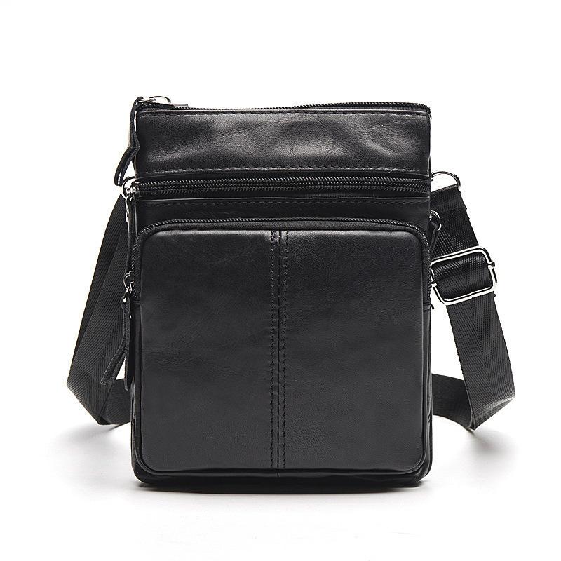 Мягкая кожаная сумка «Westal» небольшого размера чёрного цвета фото. Купить