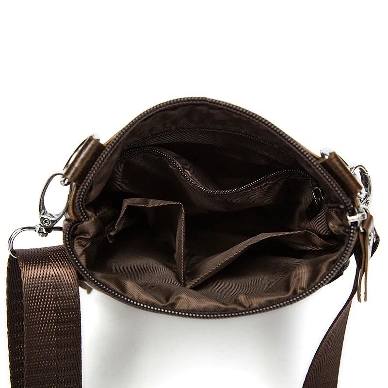 Мягкая кожаная сумка «Westal» небольшого размера чёрного цвета фото 1